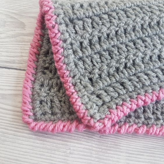 BLOG PATTERN SWATCH 3 Crab Stitch Border For Blankets Crafting Happiness