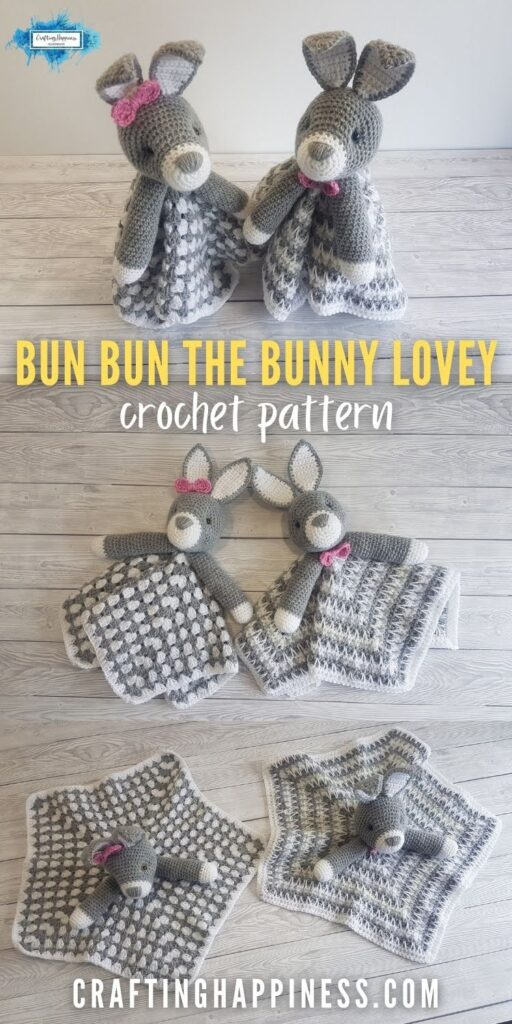 PIN 4 BLOG POSTER - Bun Bun The Bunny Baby Lovey Crochet Pattern by Crafting Happiness