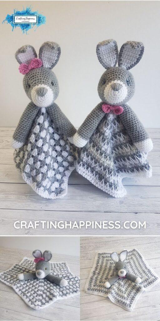 PIN 6 BLOG POSTER - Bun Bun The Bunny Crochet Lovey Crafting Happiness
