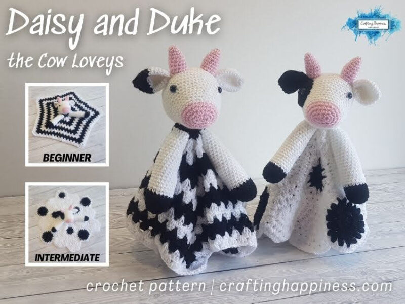 FACEBOOK BLOG POSTER - Daisy and Duke The Cow Loveys Crafting Happiness
