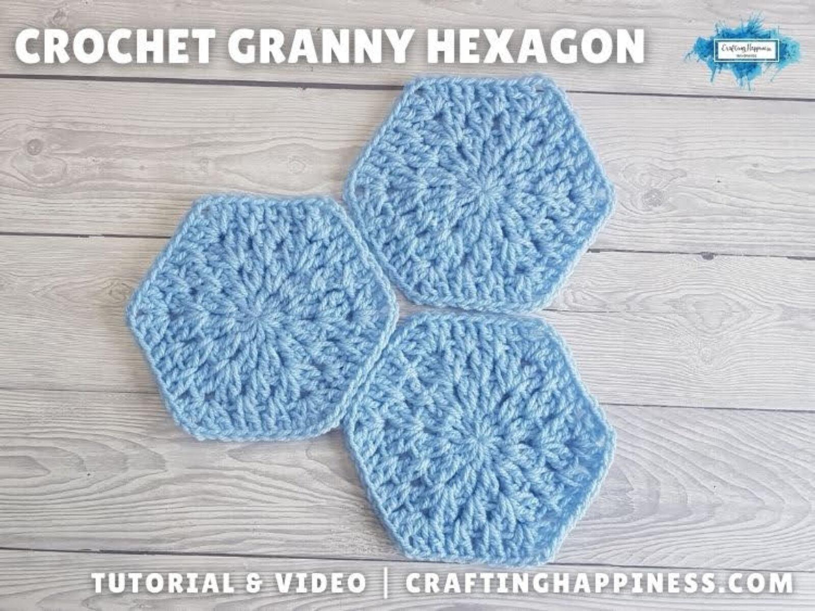 FB BLOG POSTER - Crochet Granny Hexagon Crafting Happiness