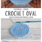 MAIN PIN BLOG POSTER How To Crochet An Oval Crafting Happiness