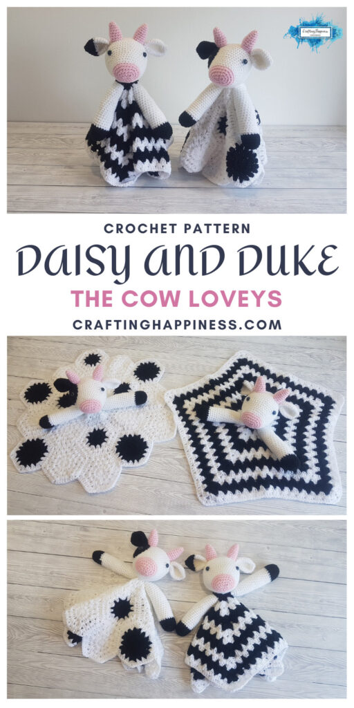 MAIN PINTEREST POSTER - Daisy and Duke The Cow Loveys Crafting Happiness