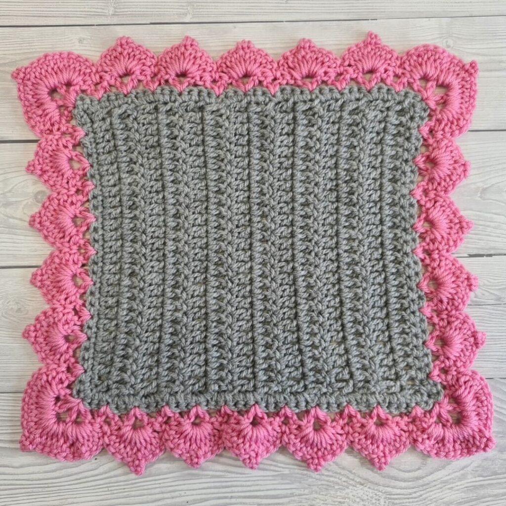 BLOG PHOTO 1 - Crochet Leaf Stitch Border Crafting Happiness