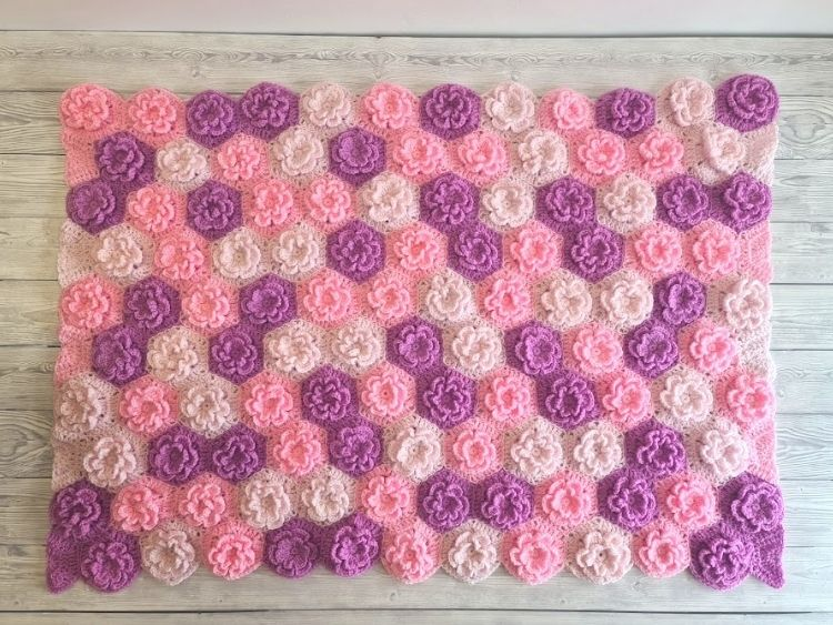 BLOG PHOTO 1 - Summer Garden Flower Baby Blanket Free Crochet Pattern by Crafting Happiness