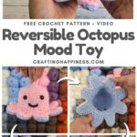 MAIN PIN BLOG POSTER - Crochet Reversible Octopus Mood Toy Crafting Happiness
