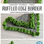 MAIN PIN BLOG POSTER - Ruffled Edge Blanket Border Crafting Happiness