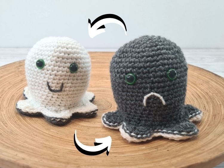 BLOG PHOTO 1 - Crochet Reversible Ghost Mood Toy Crafting Happiness