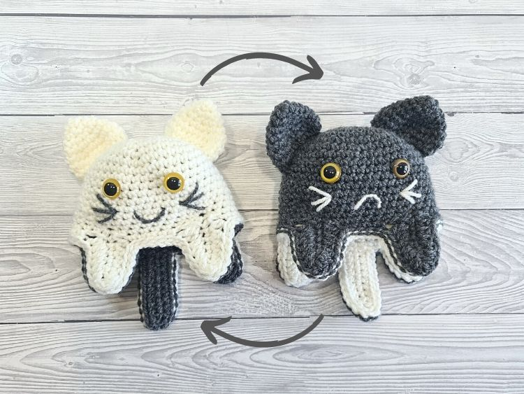 Blog Photo - Crochet Reversible Cat Mood Toy Crafting Happiness