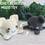 FB BLOG POSTER - Crochet Reversible Cat Toy Crafting Happiness
