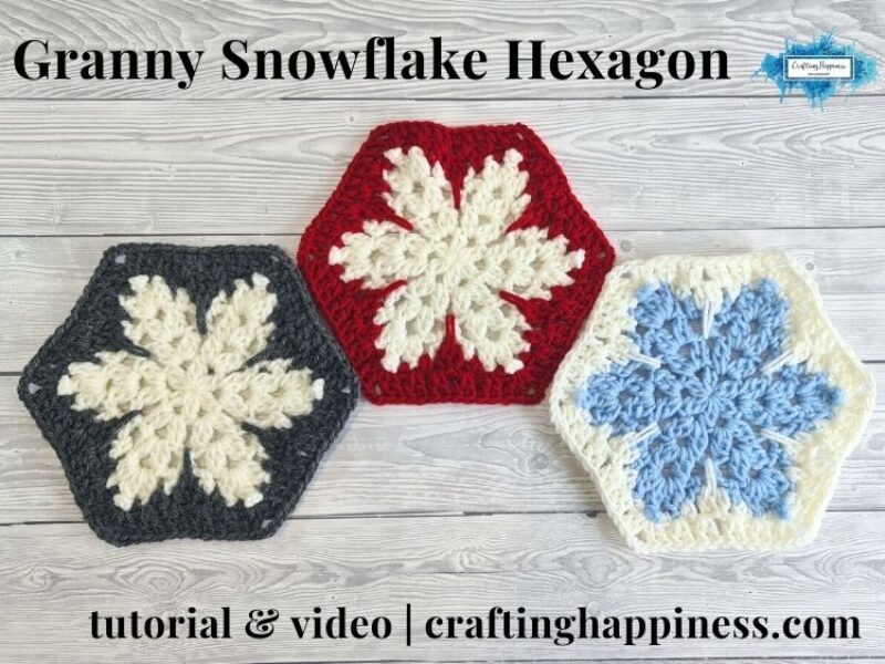 FB BLOG POSTER - Granny Snowflake Hexagon Crafting Happiness