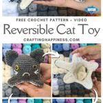 MAIN PIN BLOG POSTER - Crochet Reversible Cat Toy Crafting Happiness